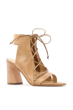 Abort Lace Up Heel TAN 1