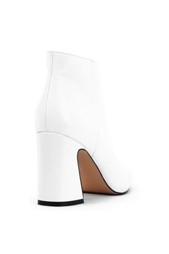 Show Leather Ankle Boot - white