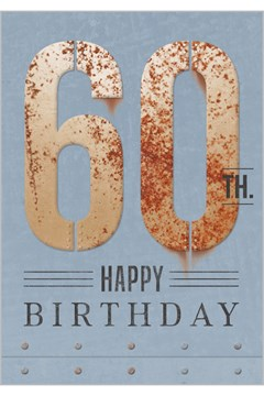 Happy 60th Birthday Card 1