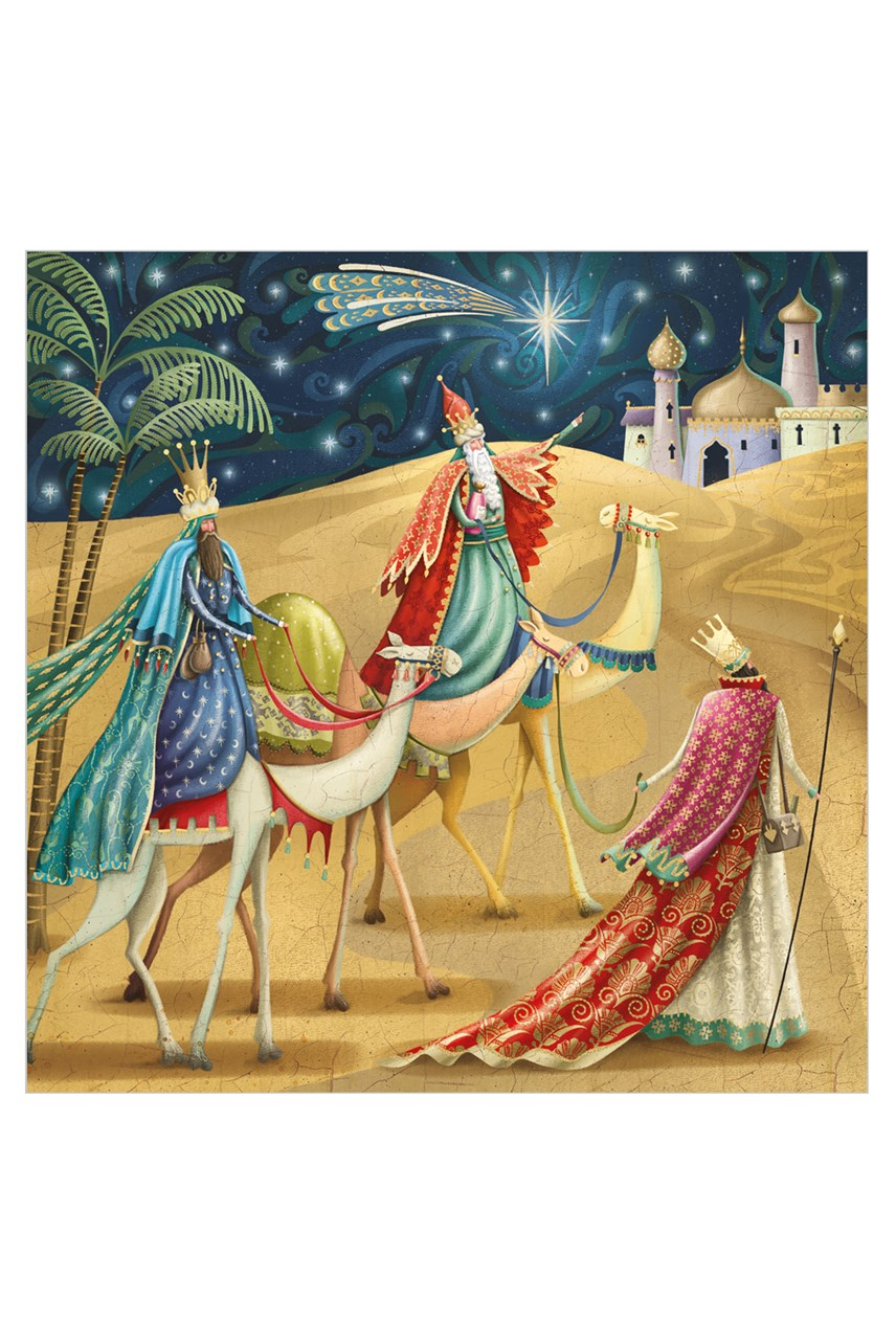 Square Three Kings Christmas Card