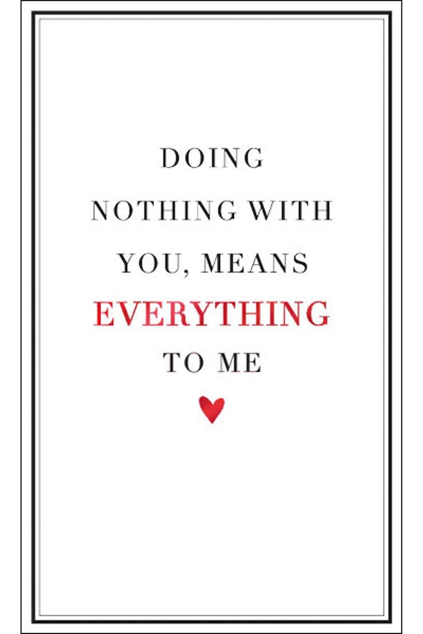 Doing Nothing Card