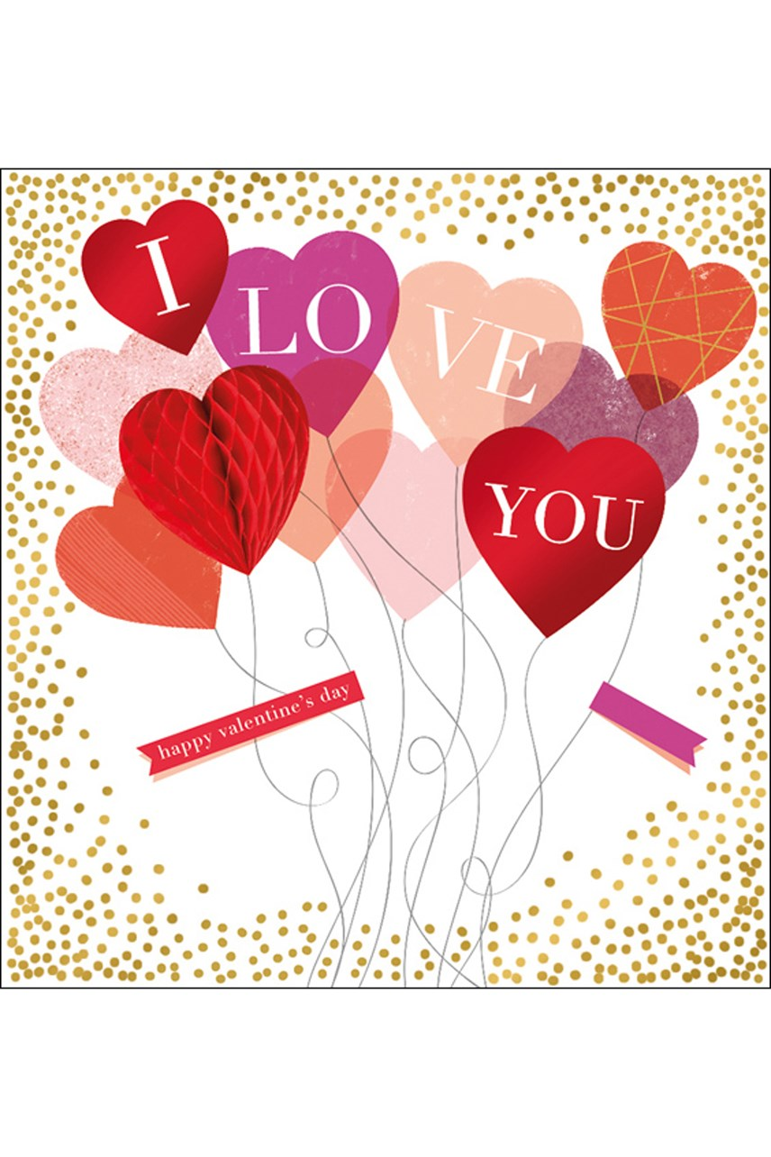 Love You Balloons Card