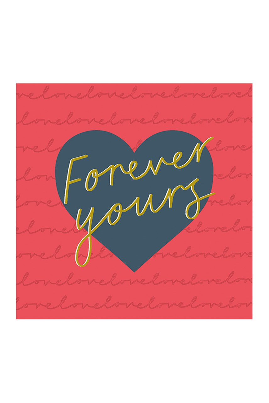 Just My Type Forever Young Square Valentines Card
