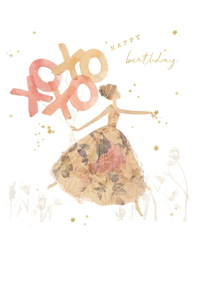 Xoxoxo Birthday Card