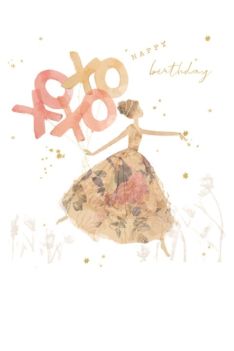 Xoxoxo Birthday Card -