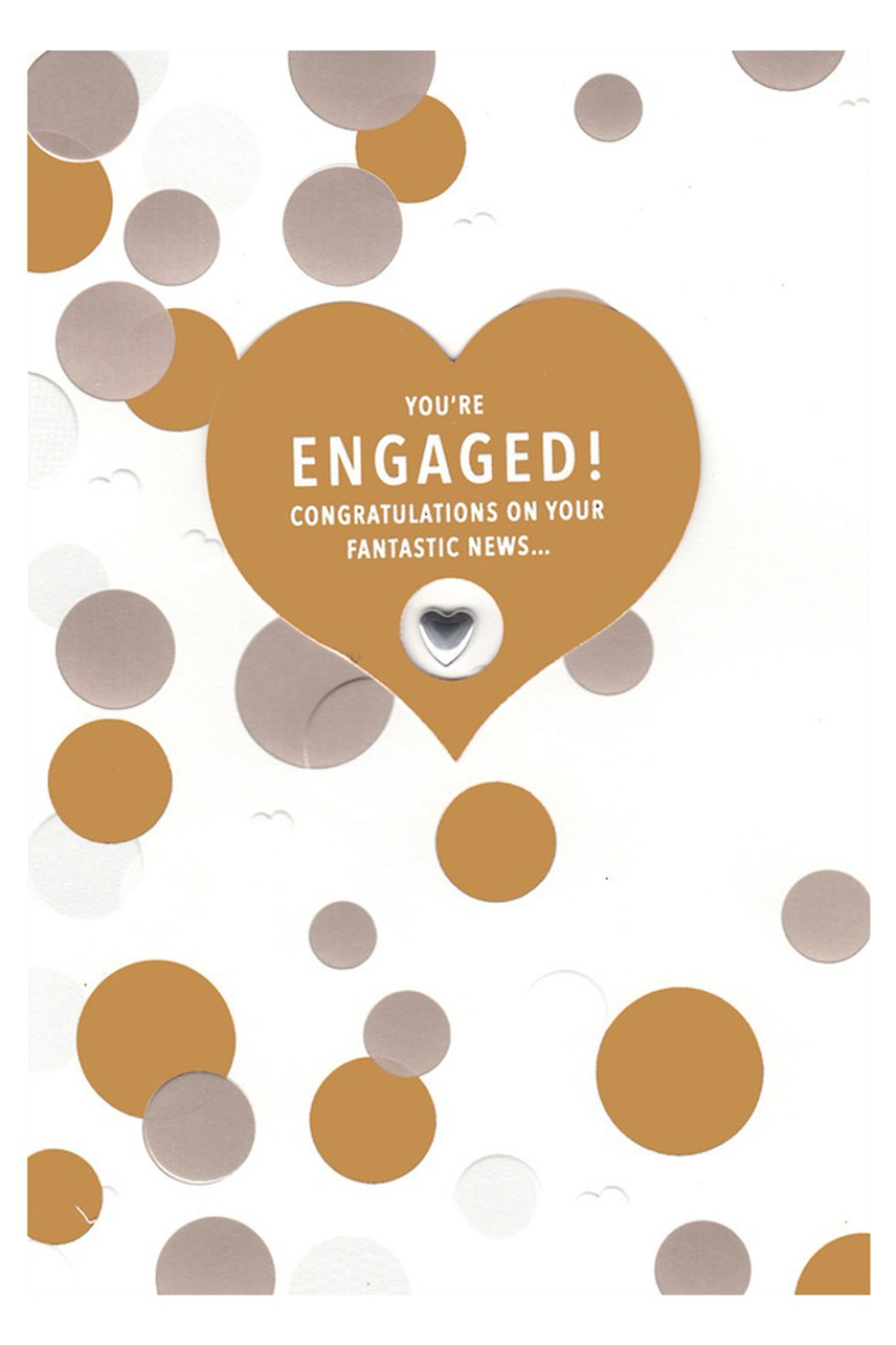 Hallmark Bronze Dots Engagement Card