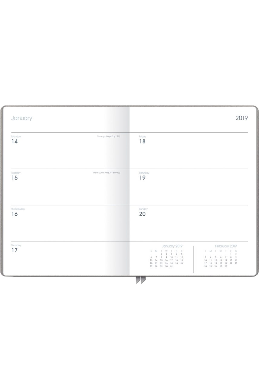 Leather 2019 Weekly Planner