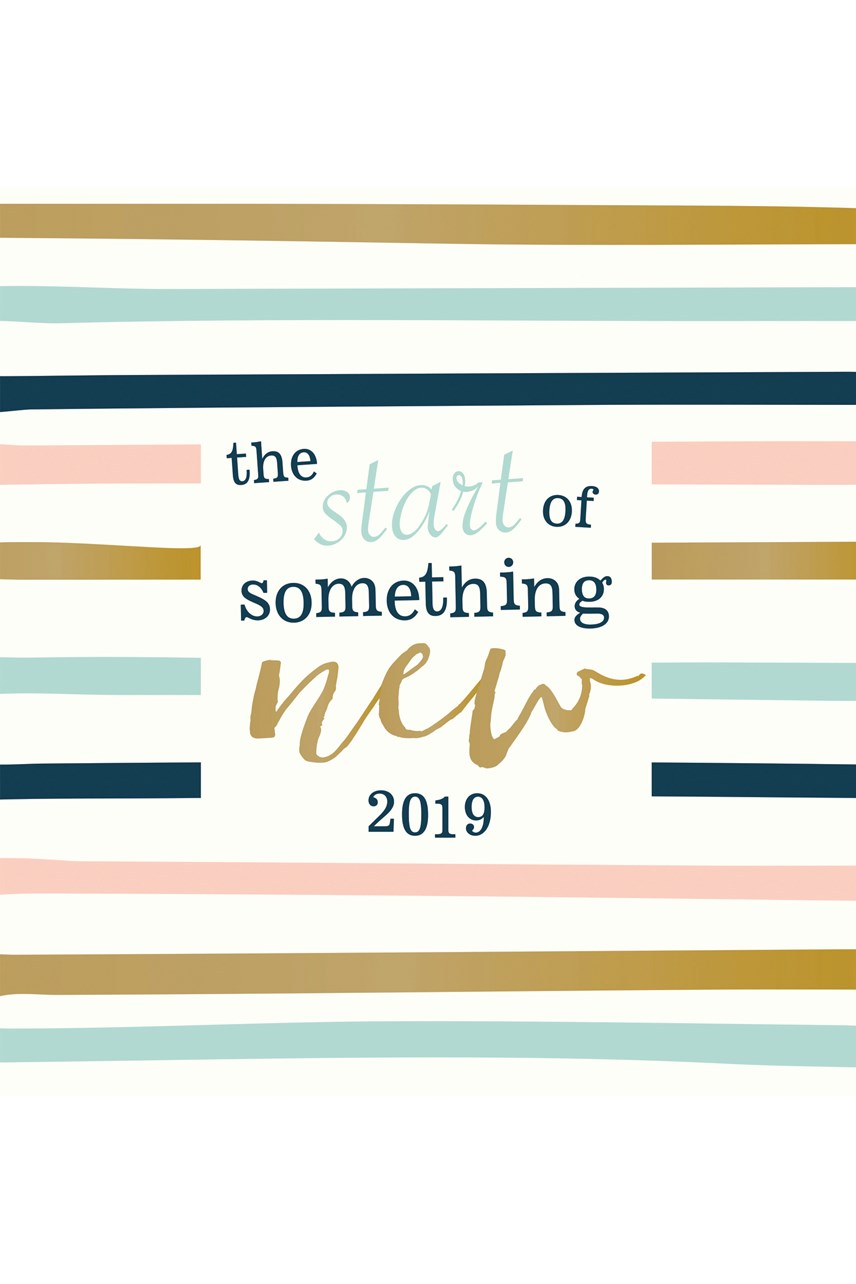 The Start of Something New Calendar 2019
