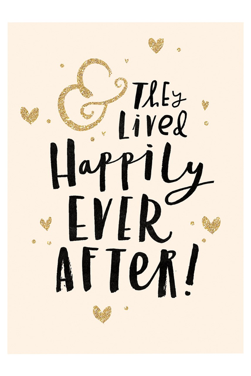 Bijou Happily Ever After Wedding Card