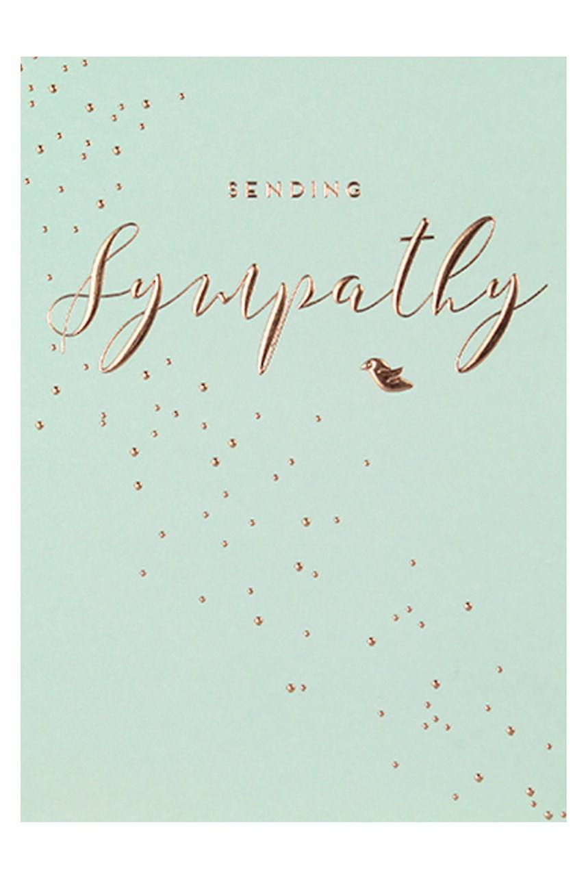 Apollo Bronze Sympathy Card