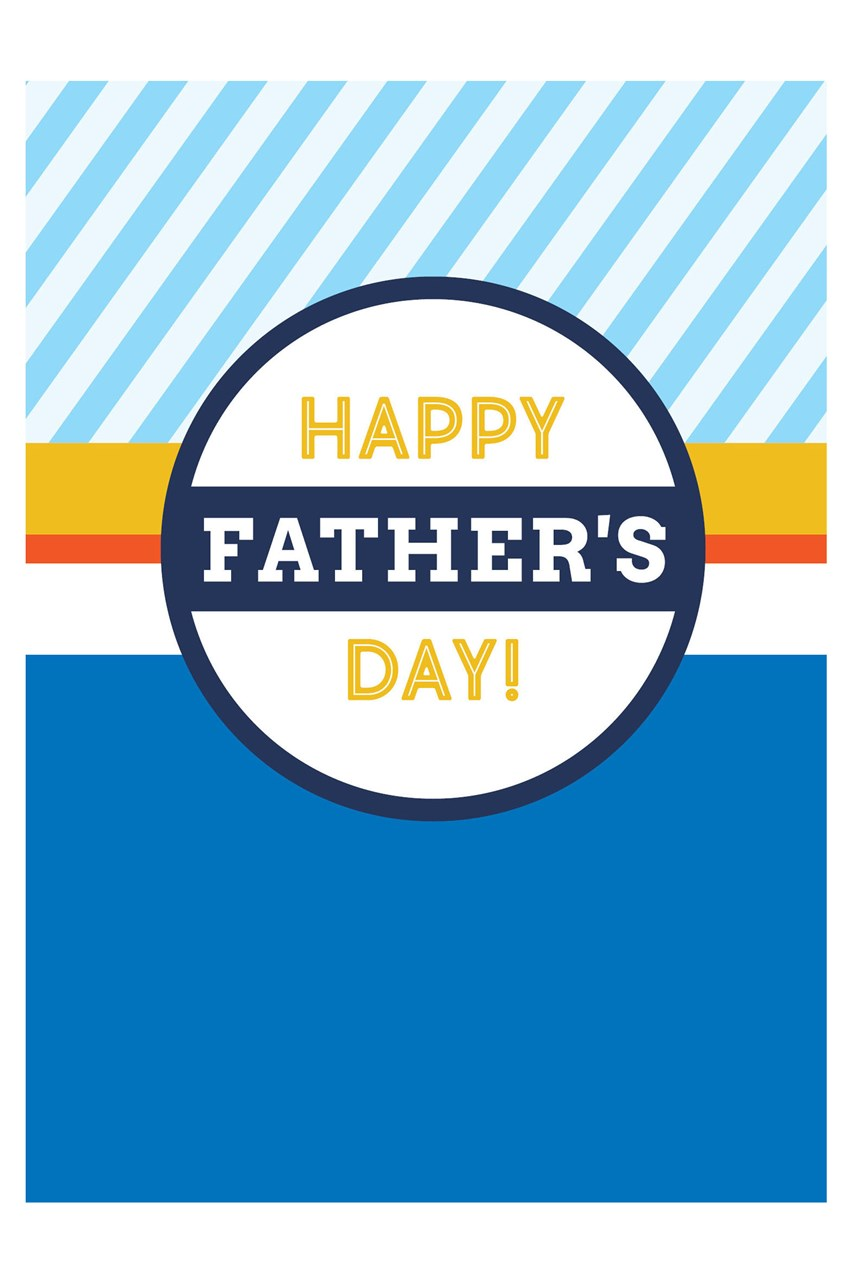 Badge Father's Day Card