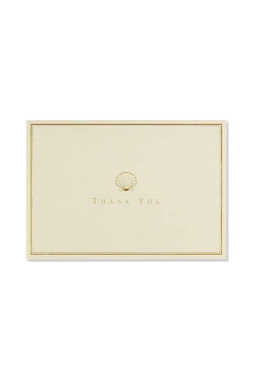 Thank You Note Card Set - Scallop