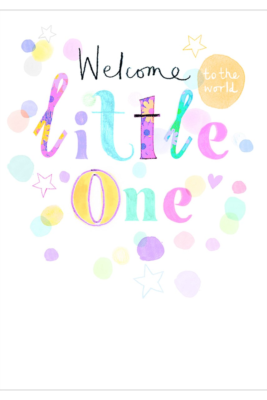 Umami Baby Welcome Little One Card
