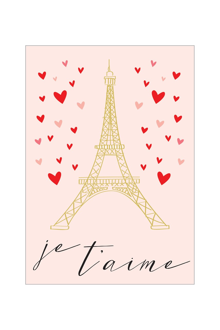 Happy Heart Je Taime Valentines Card