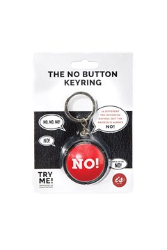 The No! Button Keyring 1