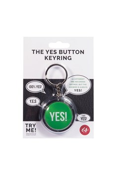The Yes! Button Keyring 1