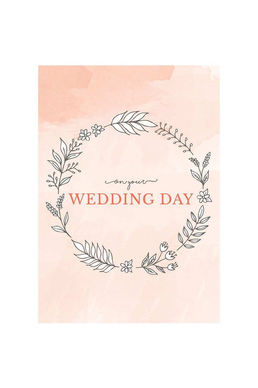 Wedding Day Wreath Card