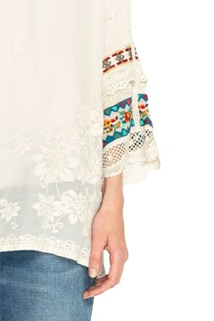 Fayan Patchwork Sleeve Tunic - shell