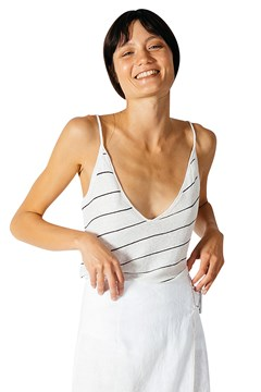 Low V-Neck Cami STRIPE 1
