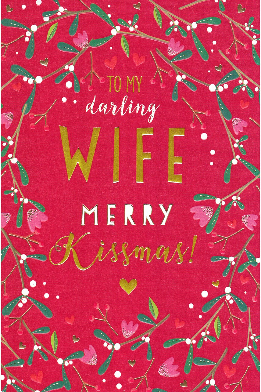 Wife Kissmas Card