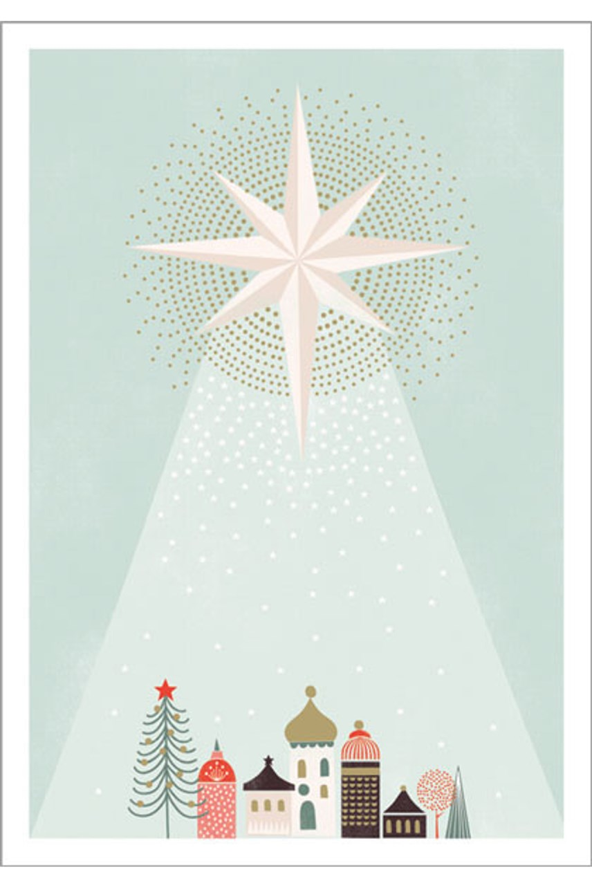 Star Christmas Card