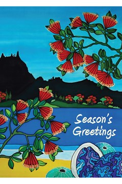 Paua & Beach Christmas Card 1