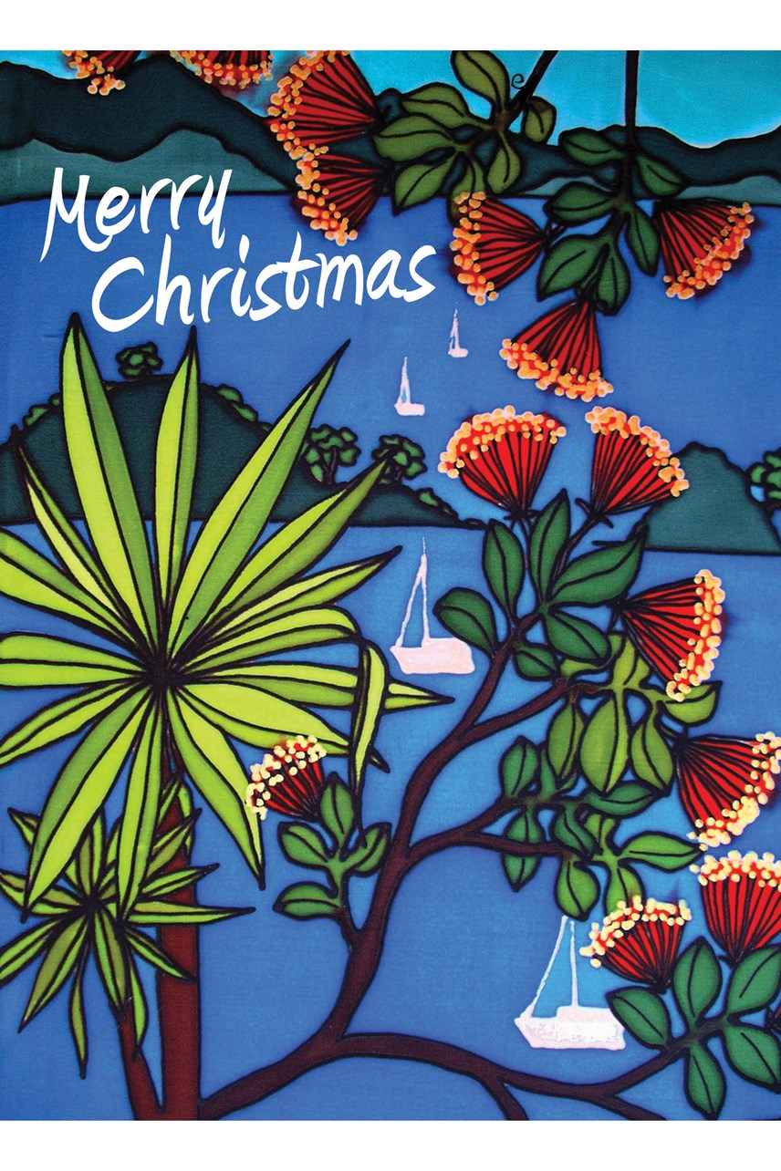 Cabbage Tree Christmas Card