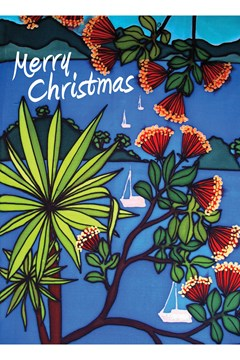 Cabbage Tree Christmas Card 1