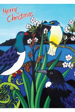 Three Birds Christmas Card 1