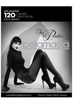 'The Panther' 120 Denier Pantyhose Black 1