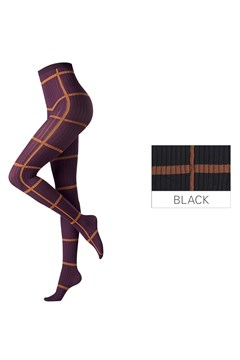 Graphic Sketch Tights BLACK 1