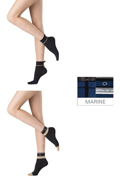Abstract Party Socks - 2 Pairs MARINE 1