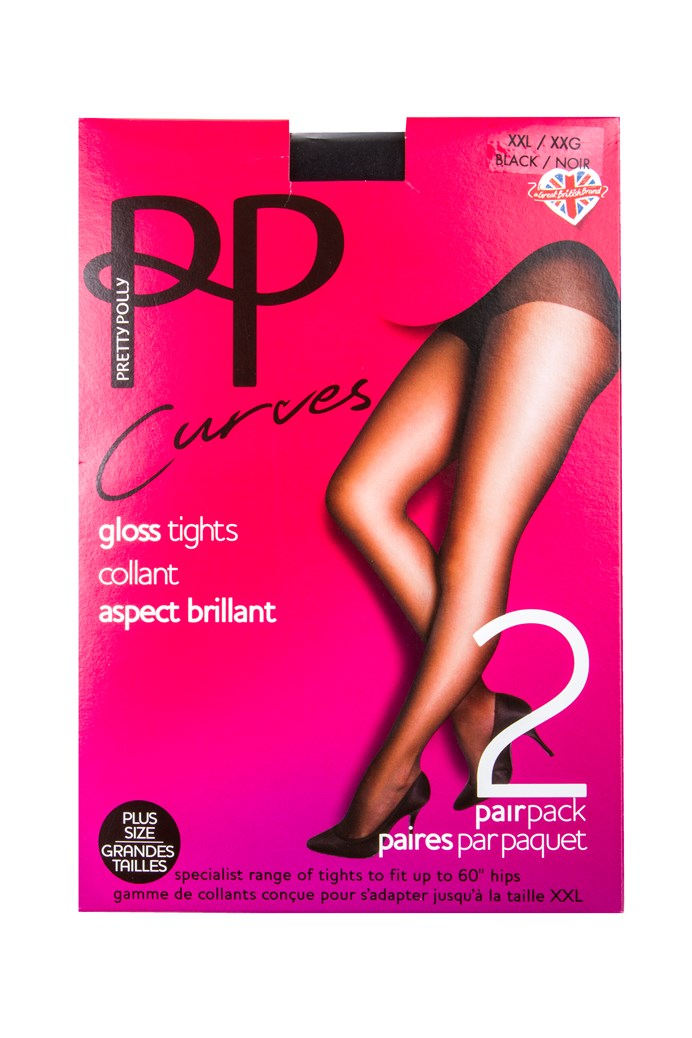 eed2d385f36 Curves Gloss Tights - Two Pack - PRETTY POLLY - Smith   Caughey s ...