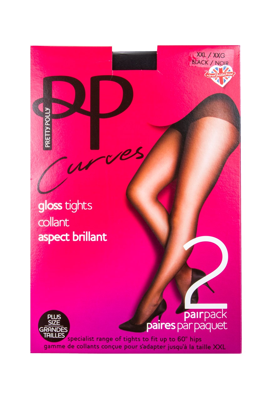 Curves Gloss Tights - Two Pack