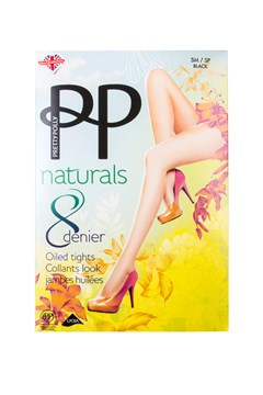 Naturals 8 Denier Oiled Tights BLACK 1