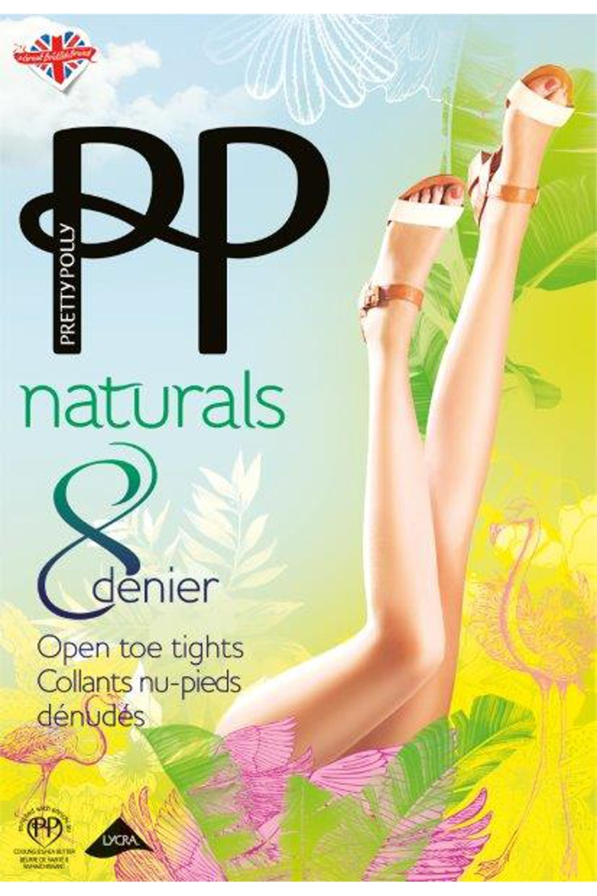 Naturals 8 Denier Open Toe Tights
