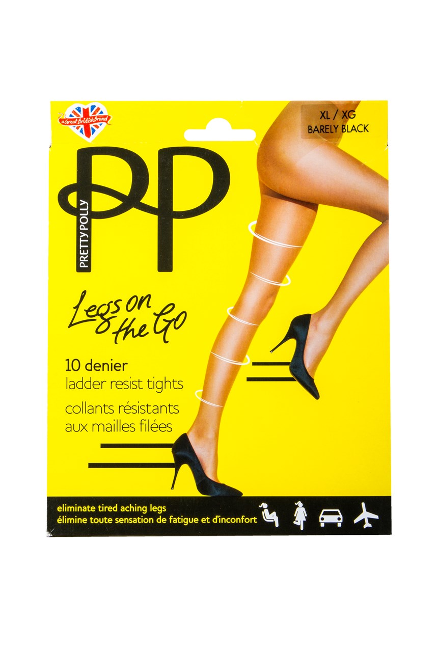 af1b0929a70 Legs on the Go 10 Denier Ladder Resistant Tights ...