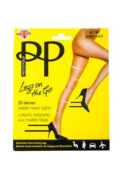Legs on the Go 10 Denier Ladder Resistant Tights BARLEY BLACK 1