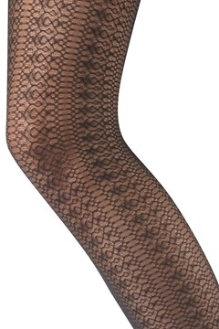 Delicate Lace Tights - black