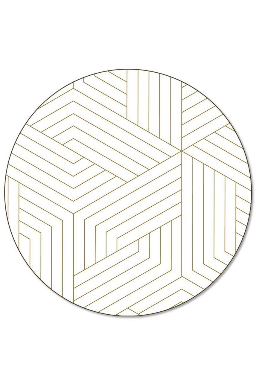 'Deco' Round Placemat Loose