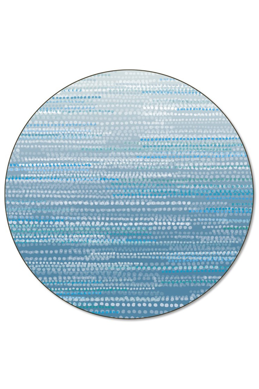 'Blue Dapple' Round Placemat Loose