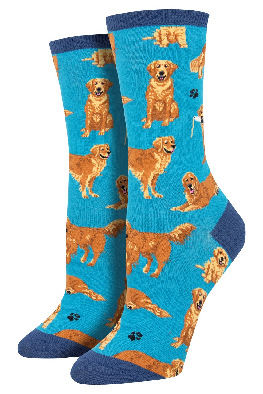Women's Golden Retrievers Crew Sock