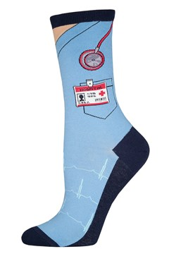 Scrubs Crew Sock BLUE 1