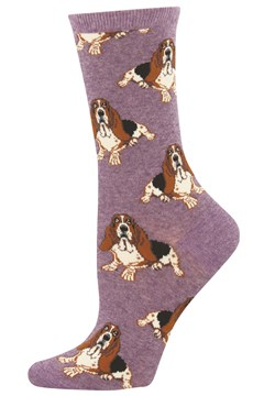 Nothing But A Hound Dog Women's Crew Sock LAVENDER 1
