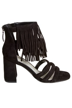 Dress Sandal with Fringe BLACK 1