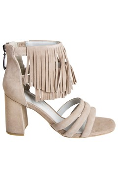 Dress Sandal with Fringe TAUPE 1