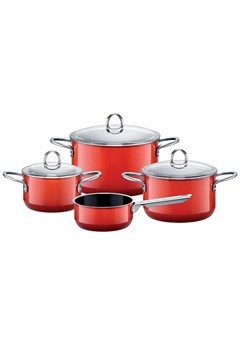 Passion 4 Piece Cookware Set RED 1