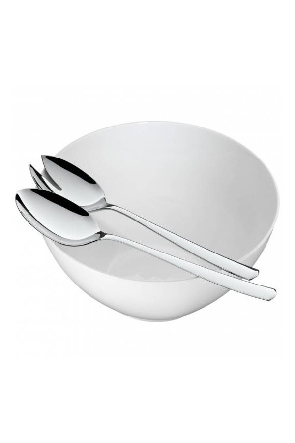 3-Piece Salad Set with Porcelain Bowl