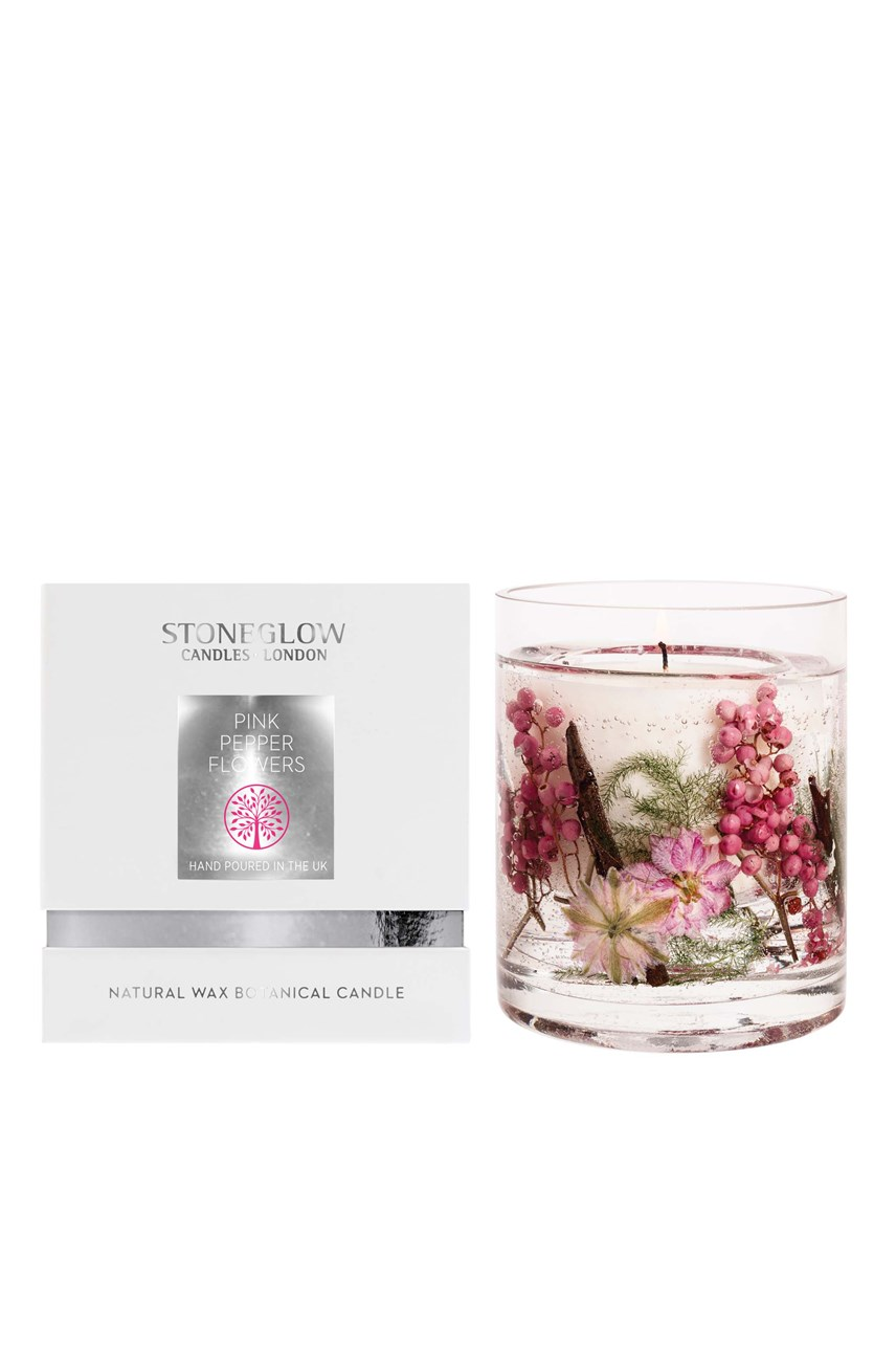 Natures Gift Pink Pepper Flowers Natural Wax Candle