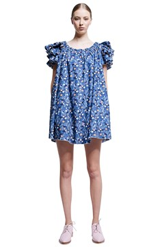 Mille Feuille Dress - blue